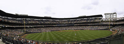 Mickey Mantle Photograph - Turner Field Panoramic View by Paul Plaine
