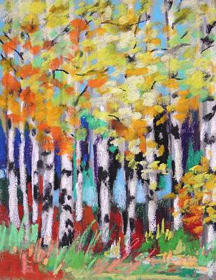 Turning Birches Print by John Williams