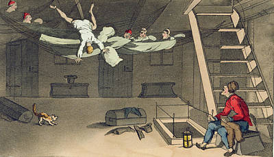 Falling Drawing - Turning In - And Out Again, Plate by Thomas Rowlandson