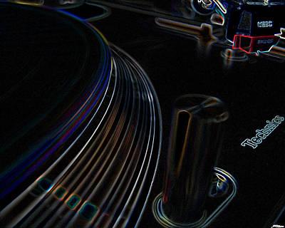 Music Digital Art - Turntable Dj by Marvin Blaine