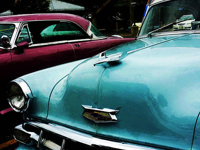 Turquoise Bel Air Print by Susan Savad