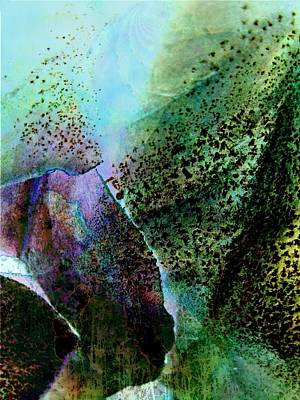 Design With Photograph - Turquoise Cascade by Shirley Sirois
