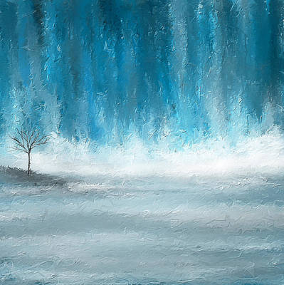 Lime Tree Painting - Turquoise Memories by Lourry Legarde