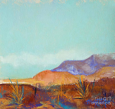 Turquoise Mountains Print by Tracy L Teeter
