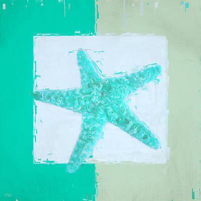 Ducks Painting - Turquoise Seashells Ix by Lourry Legarde