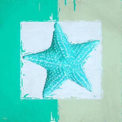 Ducks Painting - Turquoise Seashells Xi by Lourry Legarde