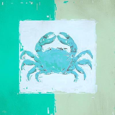 Turquoise Seashells Xv Print by Lourry Legarde