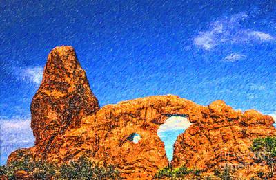 Turret Arch Arches Np Utah Usa Print by Liz Leyden