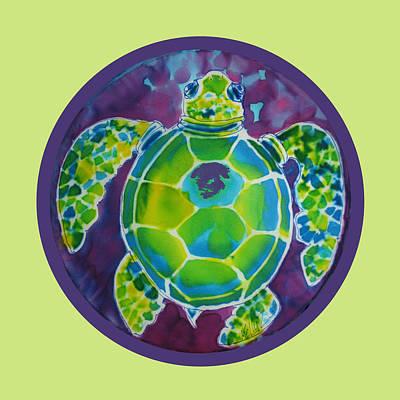 Turtle Bubble On Sherbert Ocean Print by Kelly     ZumBerge
