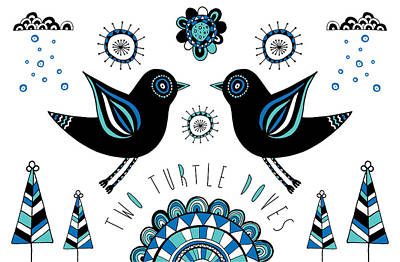 Turtle Dove Print by Susan Claire