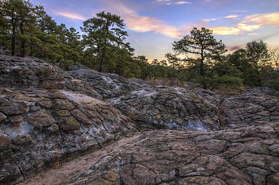 Turtle Rocks Atop Petit Jean Mountain - Arkansas Print by Jason Politte