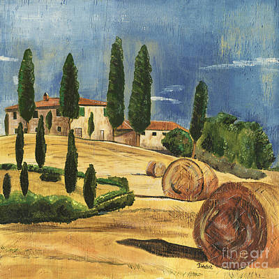 Hills Painting - Tuscan Dream 2 by Debbie DeWitt