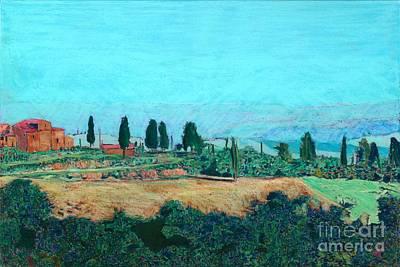 Tuscan Farm Print by Allan P Friedlander