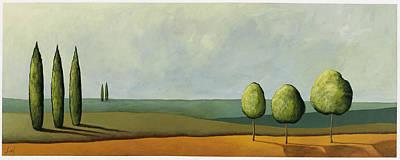 Pablo Painting - Tuscan Field by Pablo Esteban