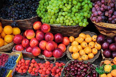 Tuscan Fruit Print by Inge Johnsson