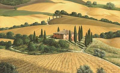 Tuscan Hills Painting - Tuscan Gold - Sold by Michael Swanson