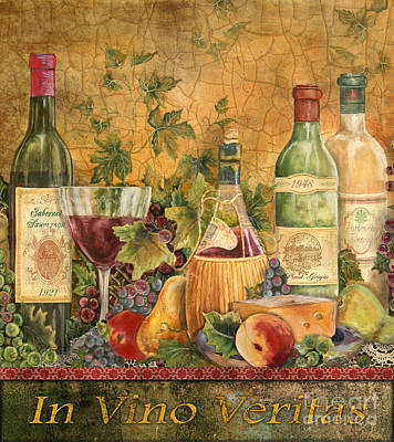Life In Italy Painting - Tuscan In Vino Veritas by Jean Plout