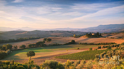 Tuscan Landscape Print by Matteo Colombo