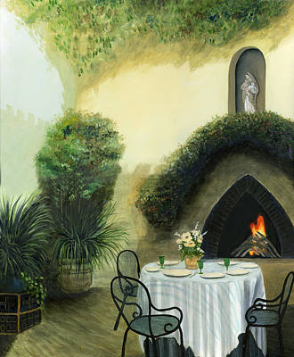 Italy Mediterranean Art Tuscany Painting - Tuscan Luncheon by Cecilia Brendel