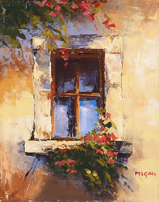 Tuscan Window Original by Maria Gibbs