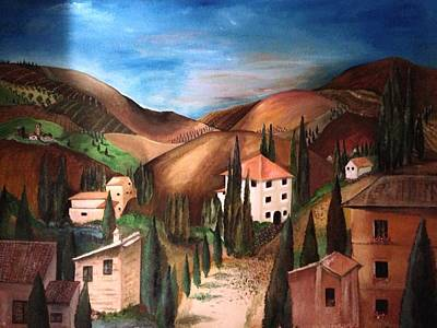 Tuscany Print by Catherine Visconte