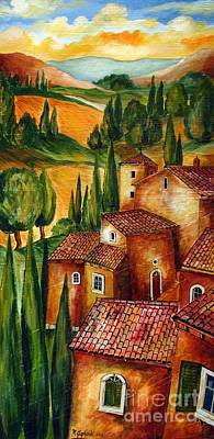 Italy Farmhouse Painting - Tuscany For Ever by Roberto Gagliardi