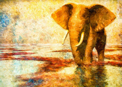 Animal Symbolism Painting - Tusk by Bob Orsillo