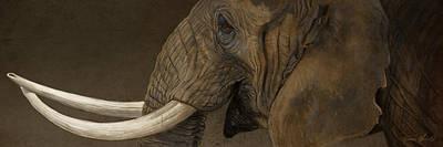 Elephants Digital Art - Tusker by Aaron Blaise