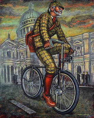 Tweed Run In Apple Green Passing St Paul's London Print by Mark Howard Jones