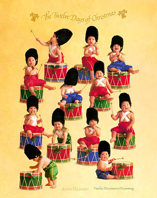 Drummer Photograph - Twelve Drummers Drumming by Anne Geddes