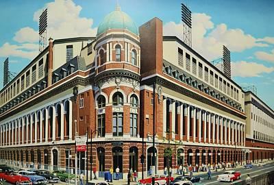 Baseball Murals Painting - Twenty-first And Lehigh by Thomas  Kolendra