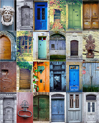 French Door Photograph - Twenty Four French Doors Collage by Georgia Fowler