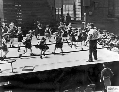 Boys Boxing Photograph - Twenty One Junior Dempseys by Underwood Archives