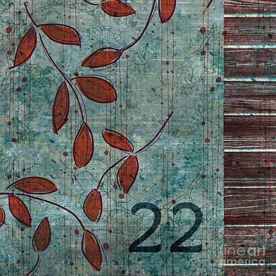 Red Leaf Digital Art - Twenty-two - Dc0102 by Variance Collections