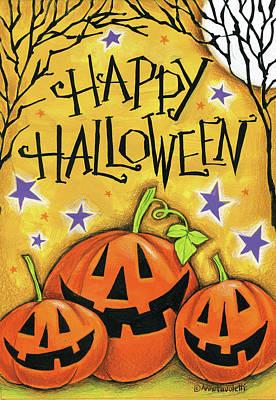 Halloween Painting - Twig Tree by Anne Tavoletti