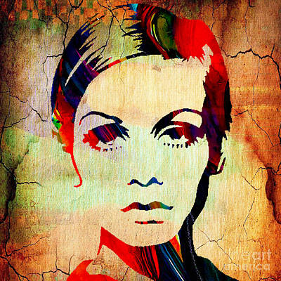 Twiggy Collection Print by Marvin Blaine