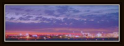 Twilight At Gerald R Ford International Airport Print by Rosemarie E Seppala