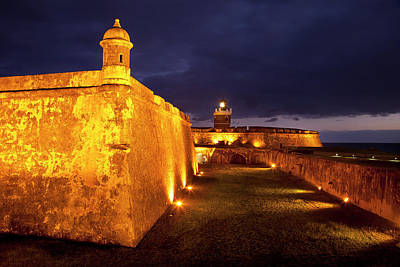 Twilight At Historic El Morro Fort Print by Brian Jannsen