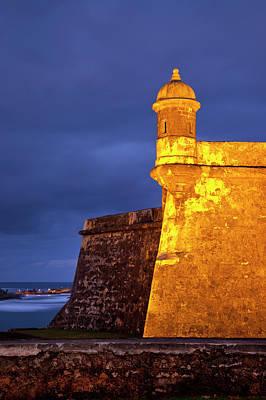Twilight At Historic Fort El Morro Print by Brian Jannsen