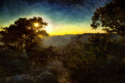 Twilight At The Canyon Print by Ellen Heaverlo