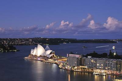 B Photograph - Twilight At The Opera House And Sydney Harbour by Photography  By Sai