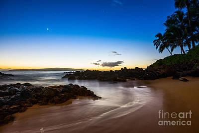 Twilight Beach - Beautiful And Secluded Secret Beach In Maui. Print by Jamie Pham