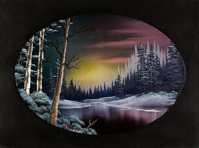 Wet On Wet Painting - Nightfall's Approach by C Steele