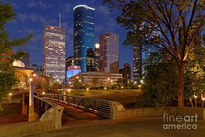Twilight Breaking Dusk Houston Skyline Print by Silvio Ligutti