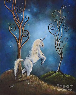 Unicorn Painting - Twilight By Shawna Erback by Shawna Erback