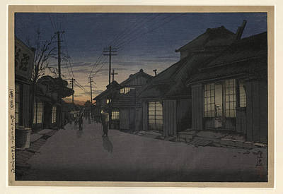 Impressionism Painting - Twilight In Imamiya Street by Celestial Images