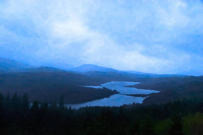 Scotland Photograph - Twilight In Scotland - Loch Garry by Mark E Tisdale
