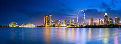 Twilight In Singapore Print by Ulrich Schade