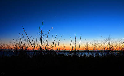Moonlight Photograph - Twilight Moment by Lourry Legarde