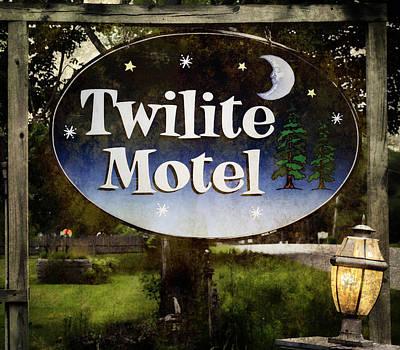 Maine Roads Photograph - Twilight Motel by Joan Carroll